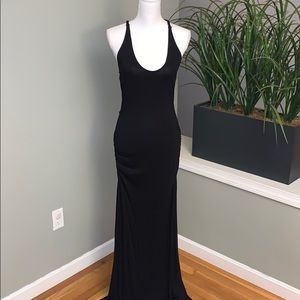 Black maxi with open back